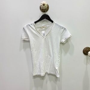 Elan Cold Trimmed Tee in White